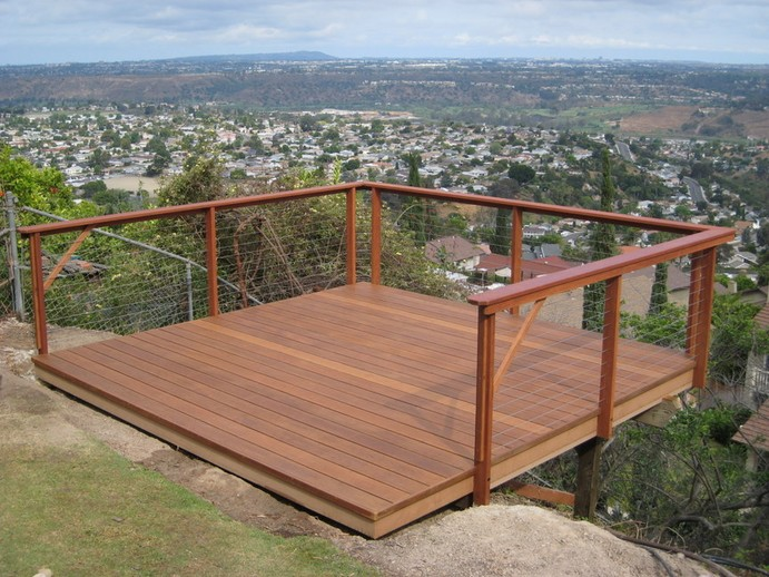 Wire deck railing pictures