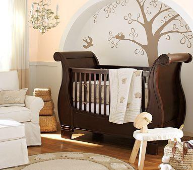 La habitación del bebé en color chocolate