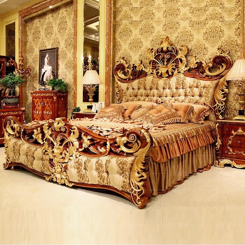 Classic royal luxury bedroom furniture