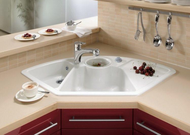 Corner kitchen sink design benefits