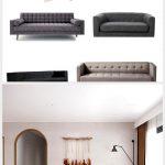Cute settee sofa in home interior