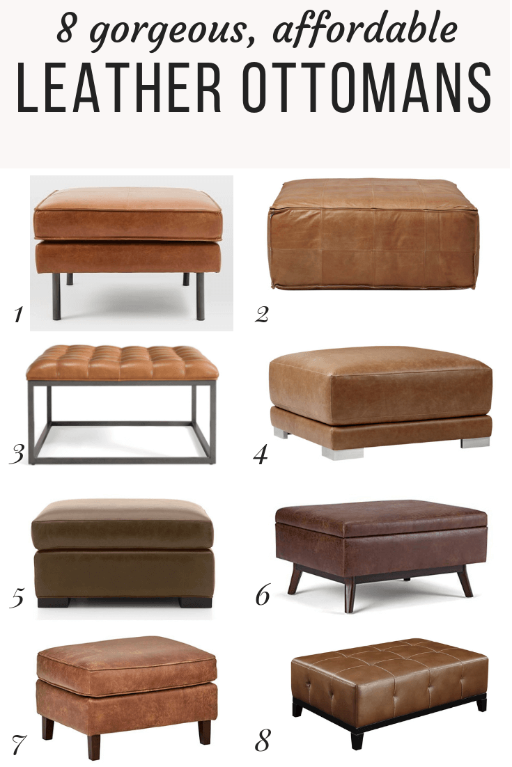 Leather ottoman: past and present