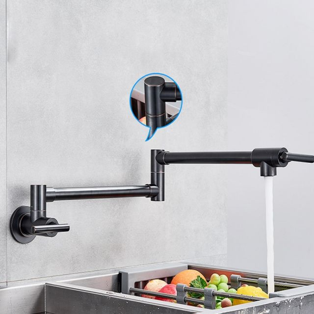 Modern wall mount kitchen faucet construction