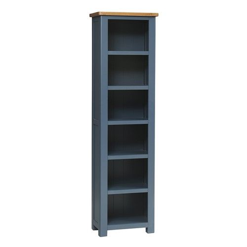 Westcote Blue Tall Slim Bookcase