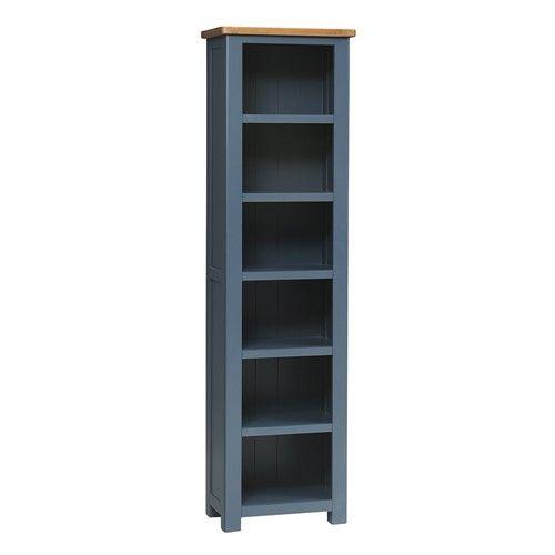 Westcote Blue Tall Slim Bookcase