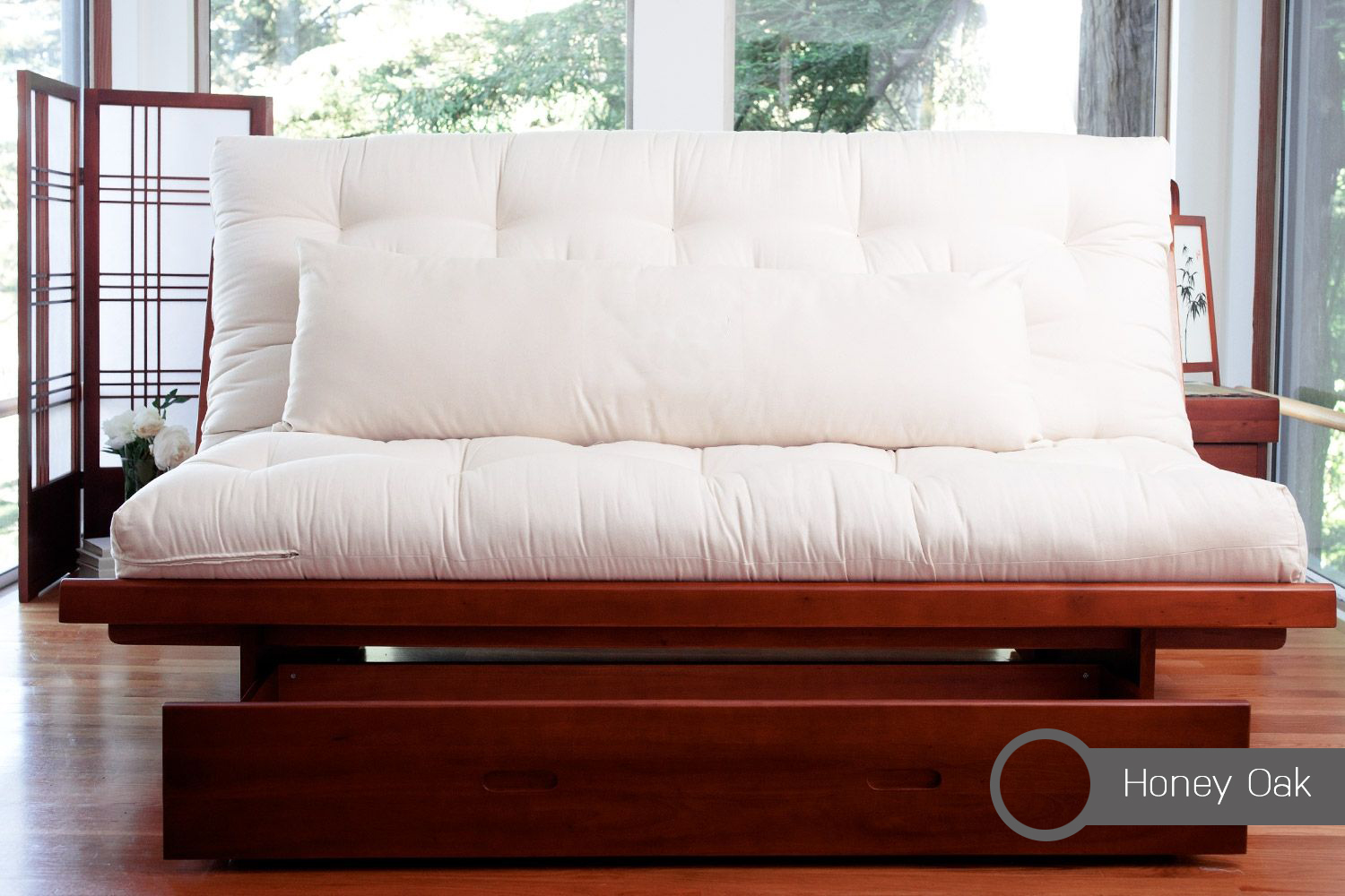 Past and present of a queen size futon