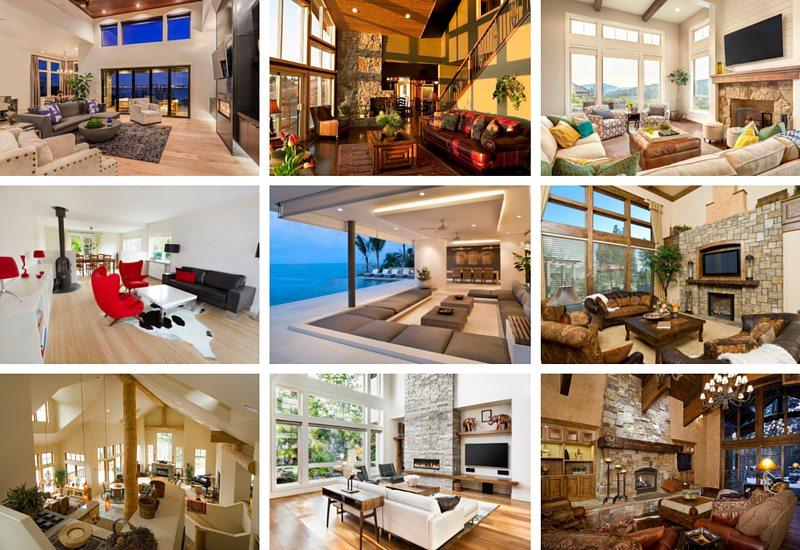 Some variants of living room makeover