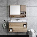 Space saving modern floating bathroom vanity