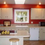The Amusing Kitchen Paint in Red Colors