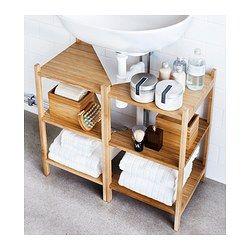 Sink shelf/corner shelf RÅGRUND bamboo